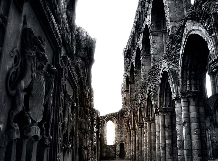 Photography - Jedburgh Abbey Window by Nicholas M Vivian