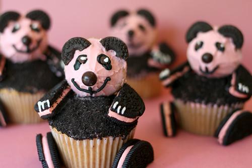 pink panda cupcakes flickr photo sharing
