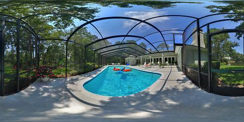 family summer panorama canon backyard swimmingpool hdr 360x180 360° sigma1020mm hugin equirectangular superwide pontevedrabeach perfectpanoramas enfuse rebelxsi