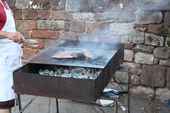 One of the barbecues