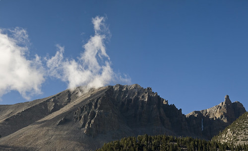 mountain clouds nationalpark nevada multiframe bristlecone greatbasin wheelerpeak snakerange 13065feet 3verticalframes secondhighest