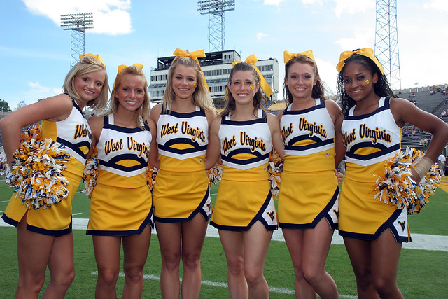 West Virginia Cheerleaders '08 | Flickr - Photo Sharing!