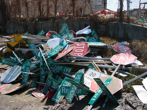 Hurricane Ike – Galveston – Street Signs