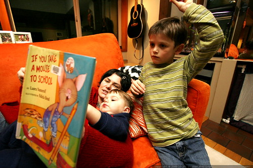Storytime on the Couch   If You Take A Mouse To School    MG 1705
