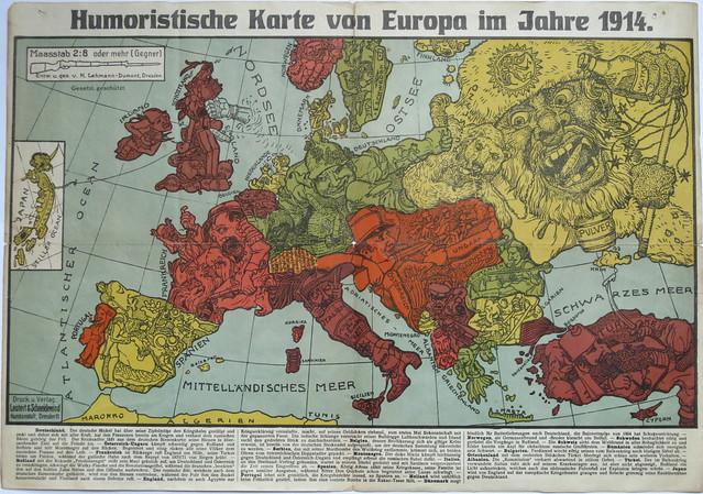 [Cartographical Curiosity - Cartoon Map of Europe]