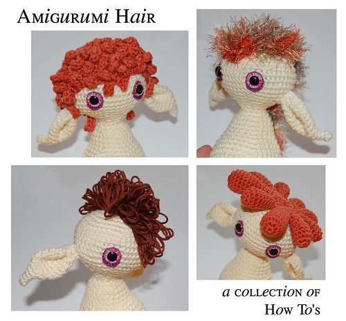Amigurumi Doll How To : Mygurumi how to amigurumi hair