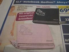 aldi notebook mit swarovski kristallen pottblog. Black Bedroom Furniture Sets. Home Design Ideas