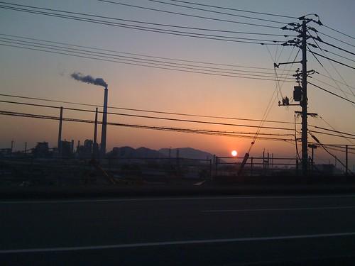 sunset sky japan