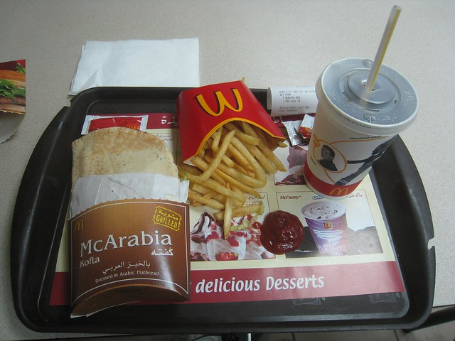 McDonald's food in Cairo