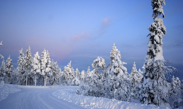 Kaamos in the North of Finlandia