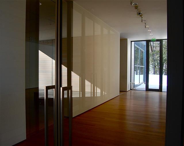 Stone Hill Center, Tadao Ando, architect, interior reflections