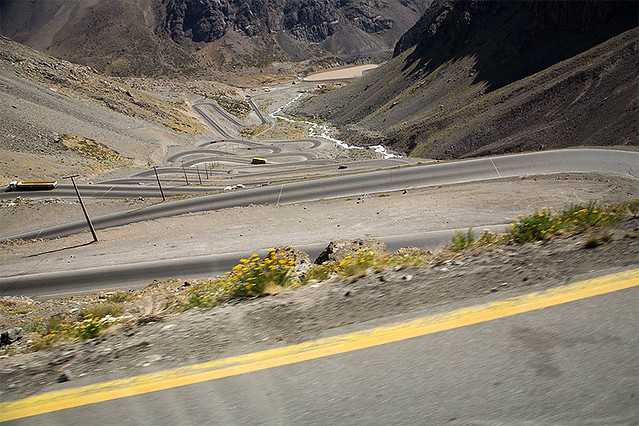 Curvy road - Paso Libertadores, Argentina-Chile