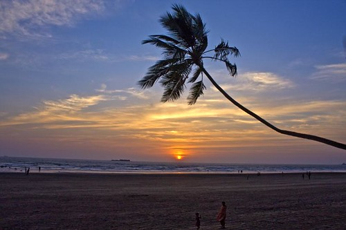 blue sunset sea sky orange india tree beach clouds maharashtra murud abigfave pratibimbsangli winnerbc
