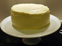 semifreddo(0.0), icing(0.0), cake(1.0), bavarian cream(1.0), buttercream(1.0), yellow(1.0), whipped cream(1.0), produce(1.0), food(1.0), dish(1.0), cheesecake(1.0),