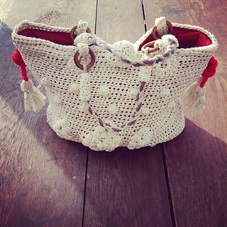 Sac + crochet + coton + rouge #crochet #handbag #french #cotton #diy #handmade #bag #instagood