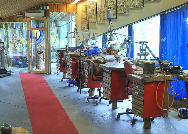 The workshop in Juhls Silvergallery