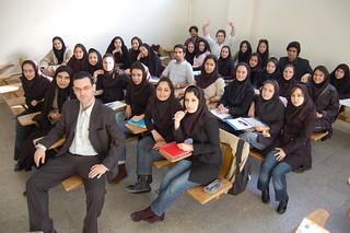 Con mis alumnas de Teherán 3/4