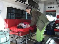 paramedic, transport, emergency vehicle, person,