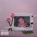 Encadernação: Álbum forrado com tecido e aplicação de foto estampada em tecido tamanho 30,5 X 30,5