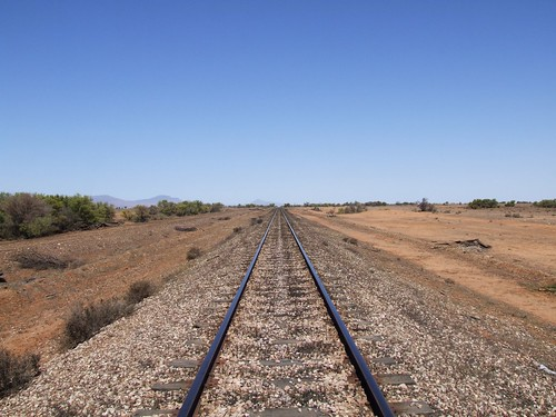 The Ghan train line from Adelaide to Darwin