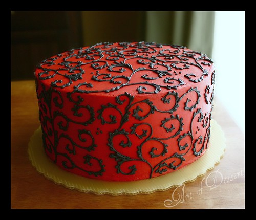 Cake Decorating Piping Design : Art of Dessert: Lemon Layer Cake
