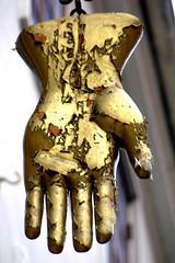 Hand of old - Streetsign