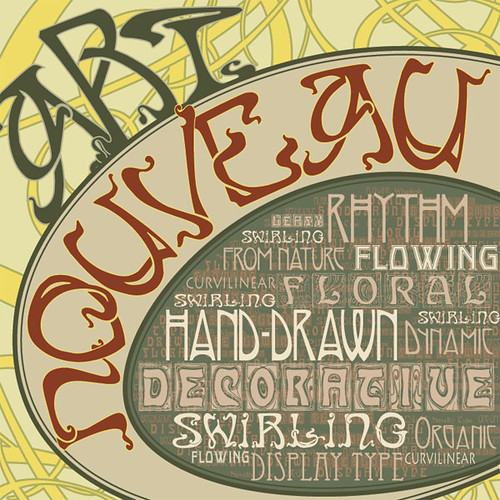 Art Nouveau Typography Album Cover Flickr Photo Sharing