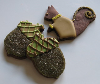 Squirrel & Acorn Sugar Cookies