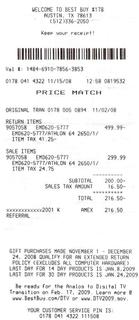 best buy receipt template - gas receipt quotes