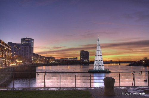 christmas xmas sunset tree river lights shannon limerick munster munsterphotographycom