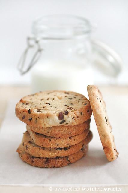 Almond Cocoa Nib Cookies