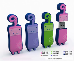 3D Flash Drive Characters
