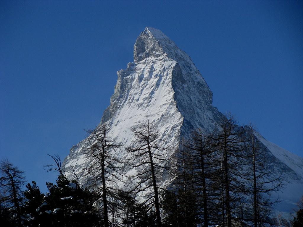 Matterhorn / Mont Cervin bei Zermatt , Kanton Wallis , Schweiz