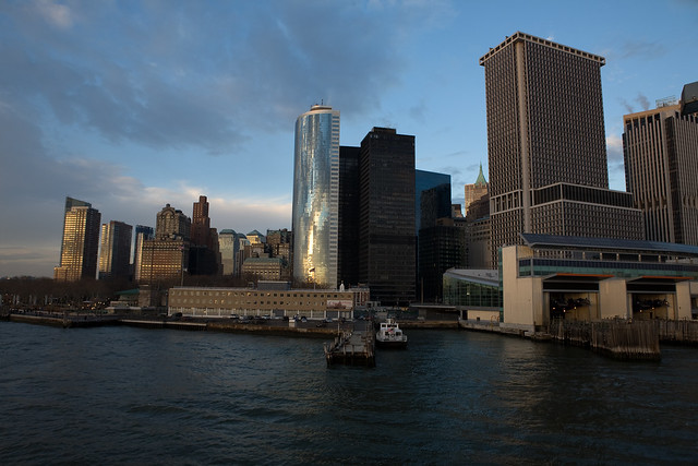 Lower Manhattan and the Staten Island Ferry Terminal