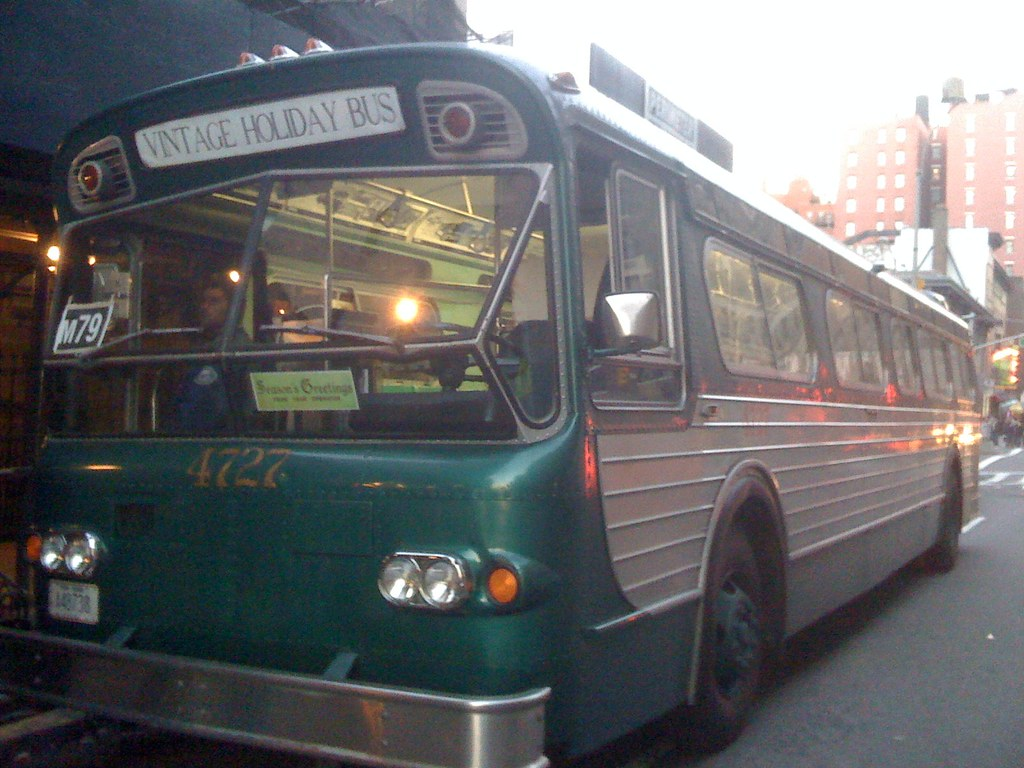 Vintage Bus on M79 Line in NYC 2