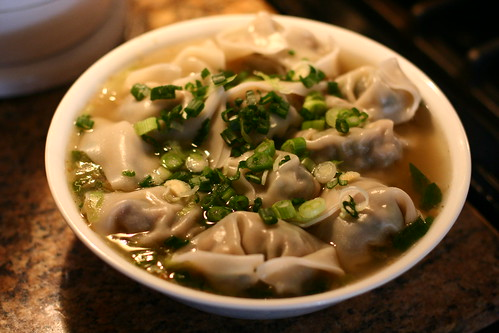 Wontons - Photo courtesy of Flickr Creative Commons: flickr.com/photos/axio/3153578562/