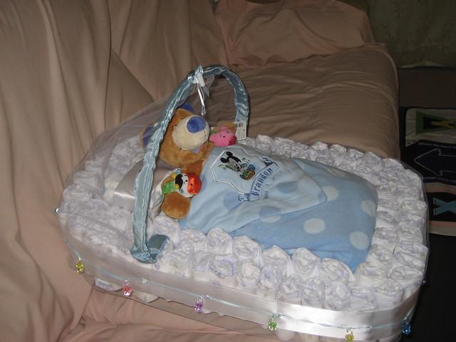 Diaper Bassinet Cake Instructions