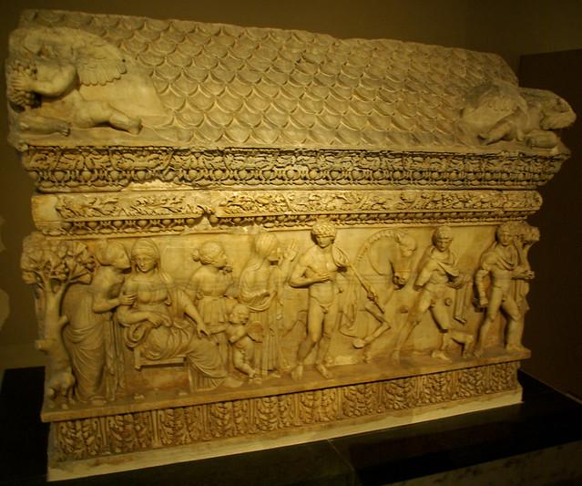 Sarcòfag de Fedra i Hipòlit (s. II), Museu Arqueològic d'Istambul
