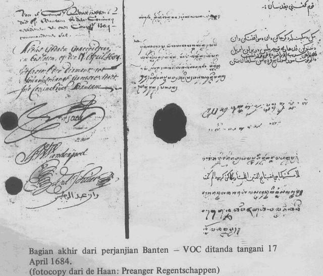 Perjanjian Banten - VOC