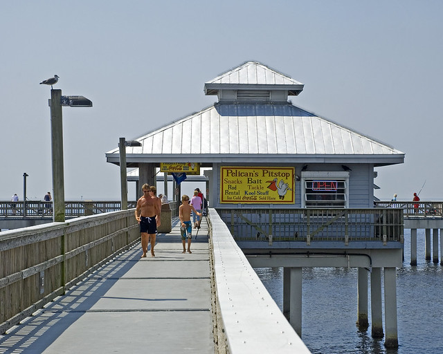 Ft myers beach pier 3452 fishing pier at ft myers beach for Fort myers beach fishing pier