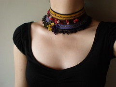 Inexplicable ... Freeform Crochet Necklace