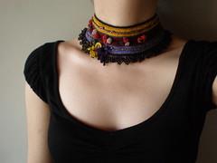 Inexplicable ... Freeform Crochet Necklace
