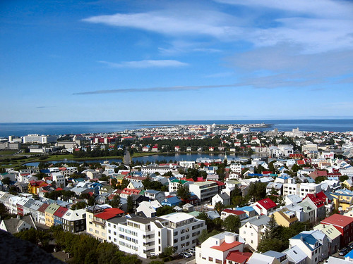 Les toits de Reykjavik vus depuis Hallgrimskirkja
