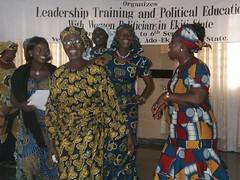 Nigeria, Leadership Training with Women Politicians, 2008