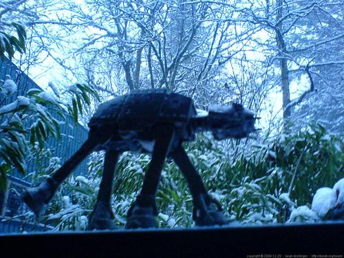 imperial walker, left outside to suffer the elements   DSC02238