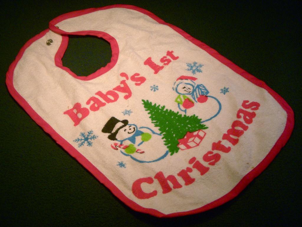 1983 Baby's 1st Christmas Bib