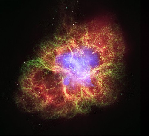 Crab Nebula: A Star's Spectacular Death (NASA, Chandra, 10/24/06)