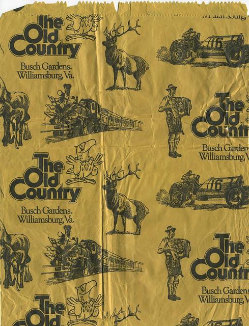 The Old Country Busch Gardens Williamsburg Virginia Souvenir Bag 1970 39 S Flickr