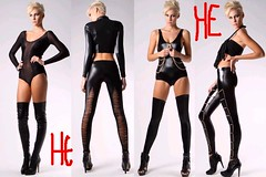 latex clothing(1.0), clothing(1.0), thigh(1.0), tights(1.0),