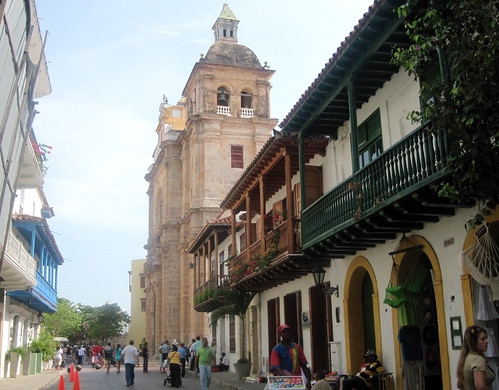Cartagena - Houses and Cathedral